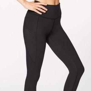 Lululemon Black pockets Ankle Athletic leggings